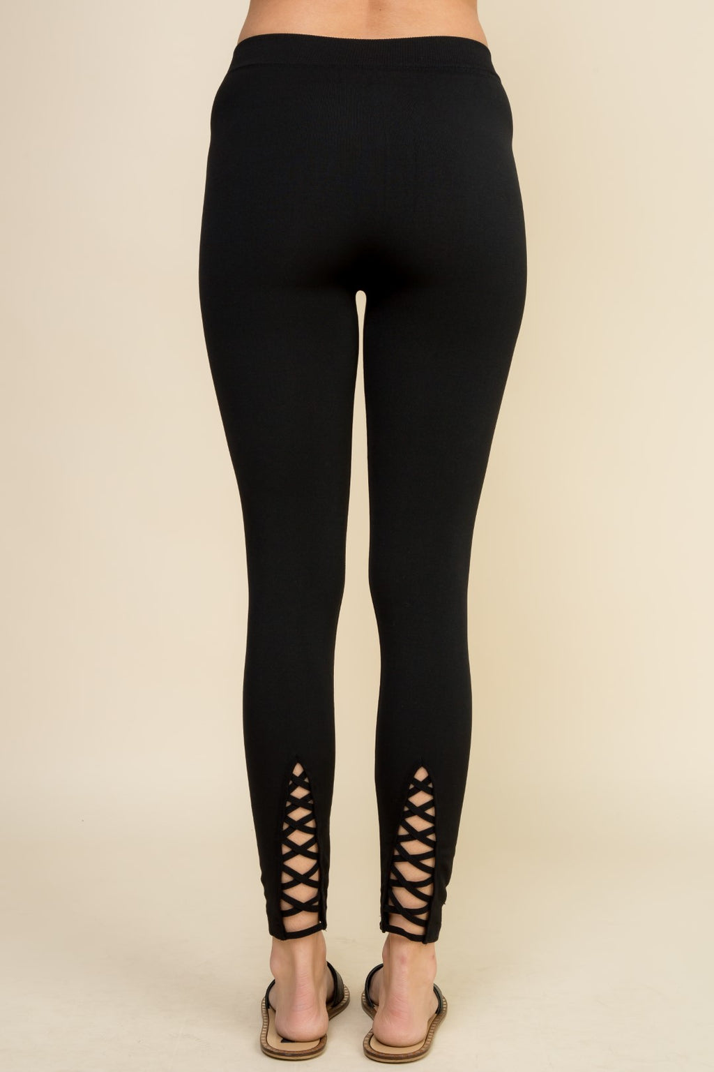 Black Strappy Cut Out Leggings - 19 Dollars Or Less