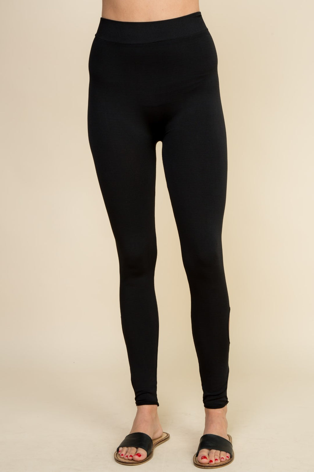 Black Oval Cut Out Leggings - 19 Dollars Or Less