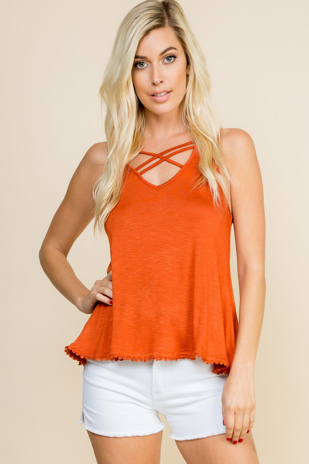 Rust Cut Out String Tank