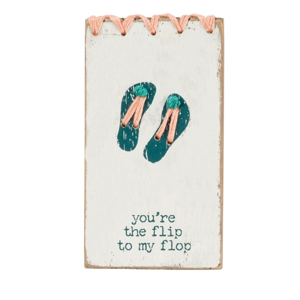You're The Flip To My Flop Stitched Magnet