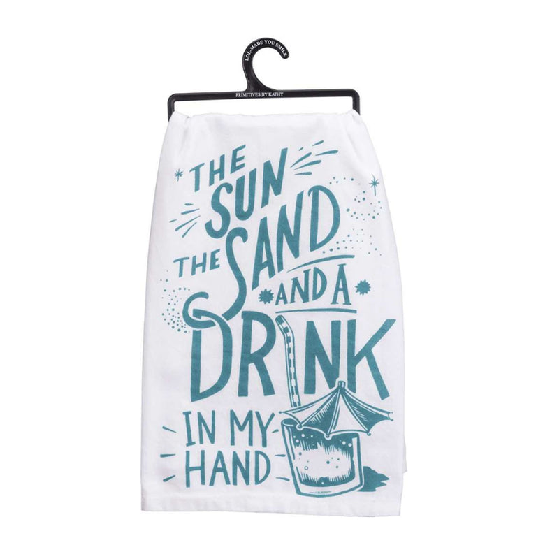 Drink In Hand Dish Towel
