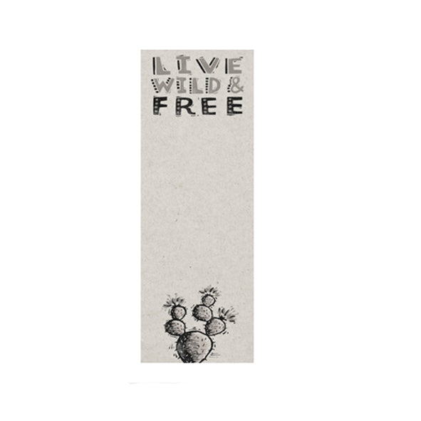 Live Wild & Free List Notepad