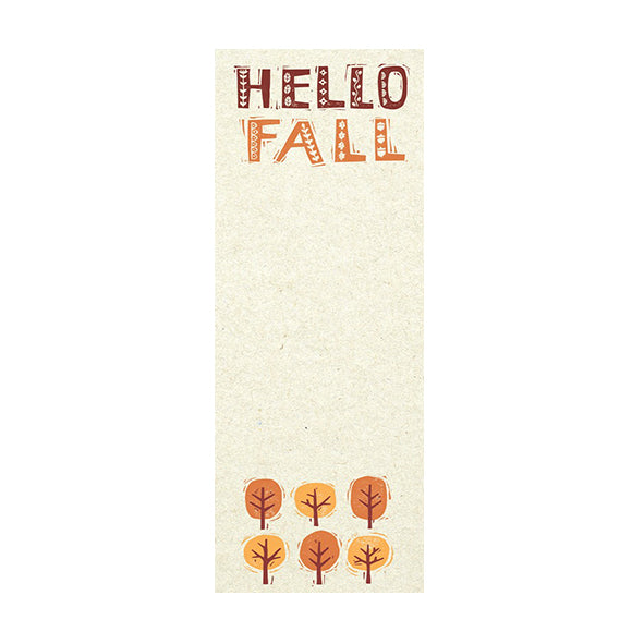 Hello Fall Magnetic List Notepad