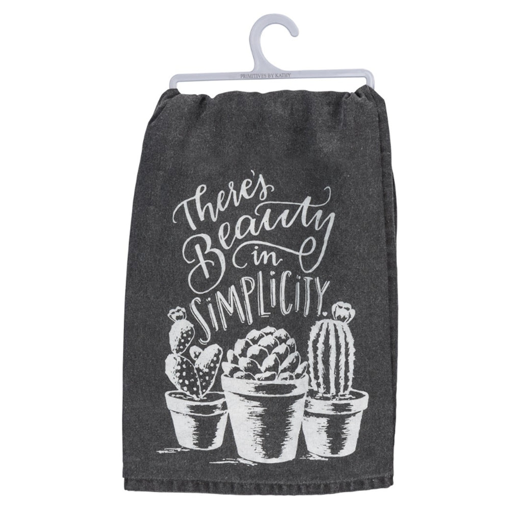 There's Beauty In Simplicity Dish Towel