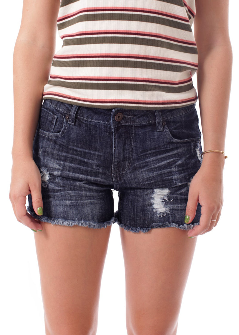 Frayed Denim Shorts - 19 Dollars Or Less