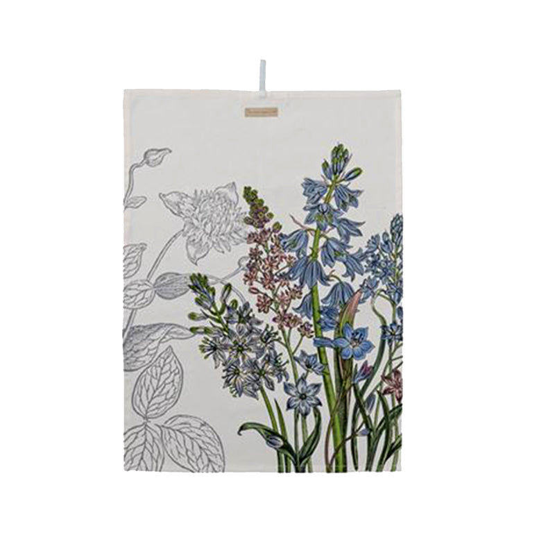 Cotton Kitchen Towel With Botanics Print - 19 Dollars Or Less