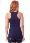 Racerback Scoop Neck Tank Top - Navy