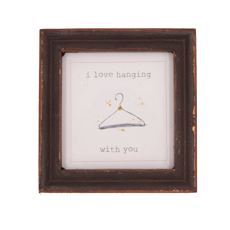I Love Hanging With You Wood Framed Decor