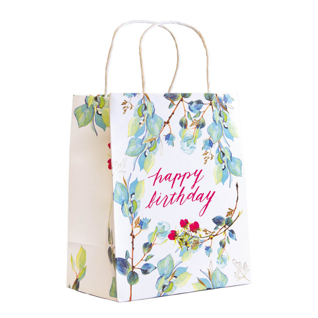 Happy Birthday Floral Gift Bag