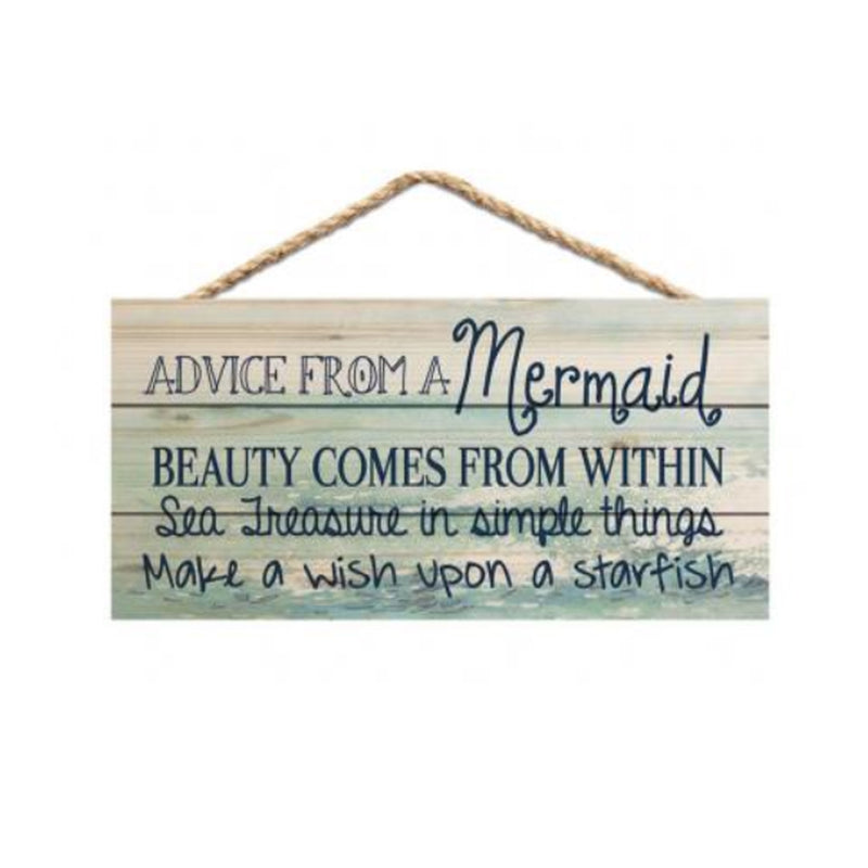 Advice From A Mermaid Hanging Sign - 19 Dollars Or Less