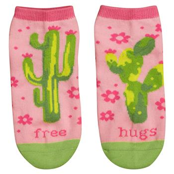 Free Hugs Cactus Ankle Socks - 19 Dollars Or Less