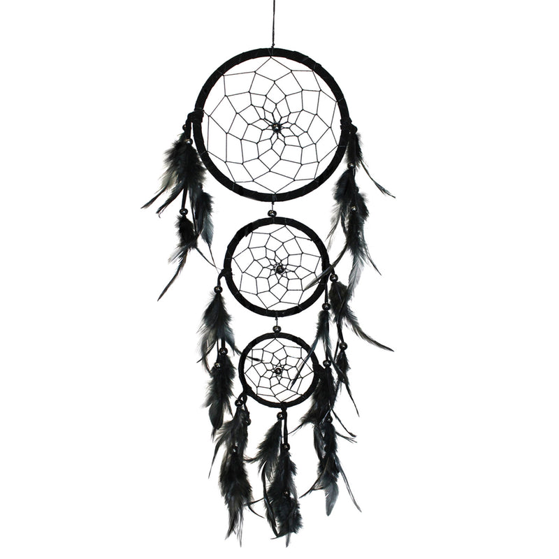 Midnight Feathers Dream Catcher