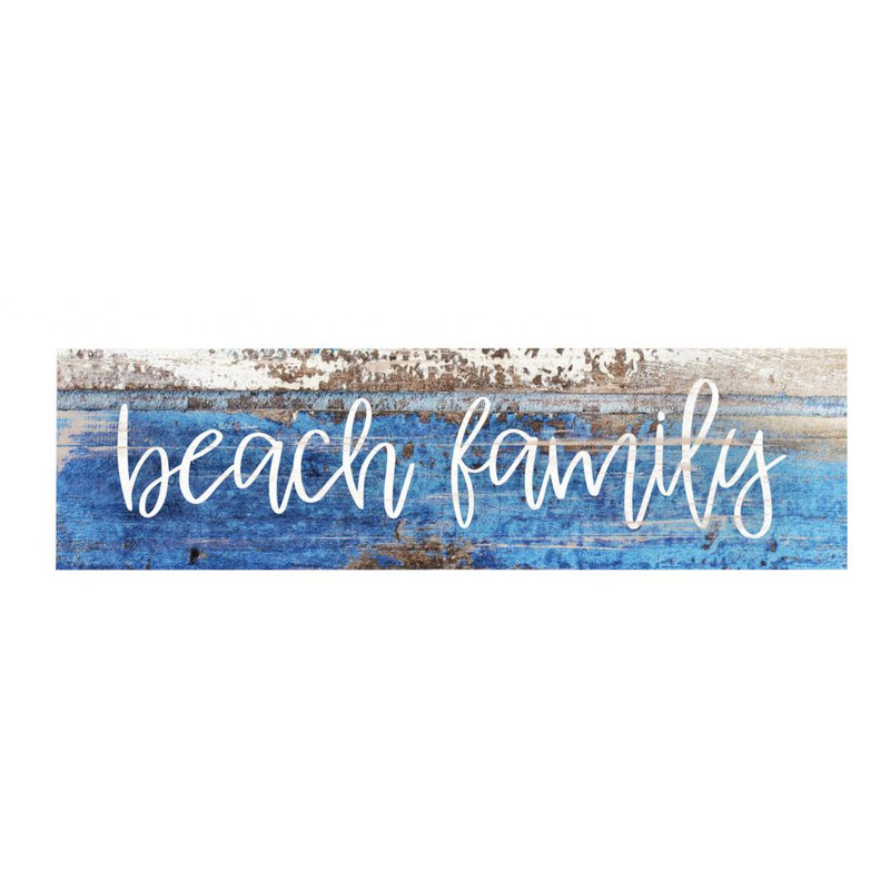Beach Family Skinny Wood Sign - 19 Dollars Or Less