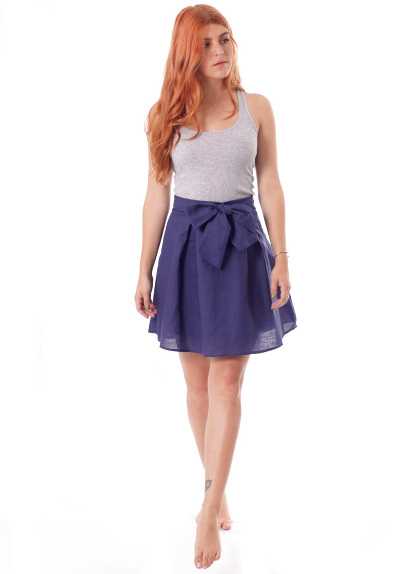 Navy Bow Skirt