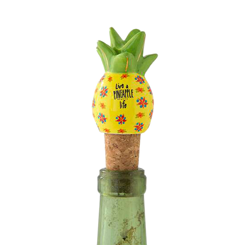 Live A Pineapple Life Bottle Stopper