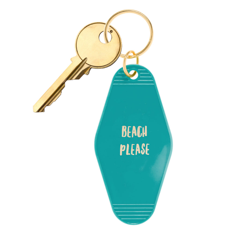 Beach Please Motel Style Key Chain - 19 Dollars Or Less