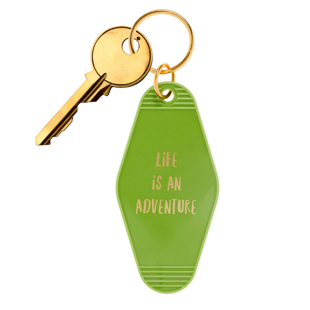 Life Is An Adventure Motel Style Keychain