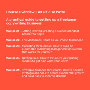 The Get Paid To Write Course