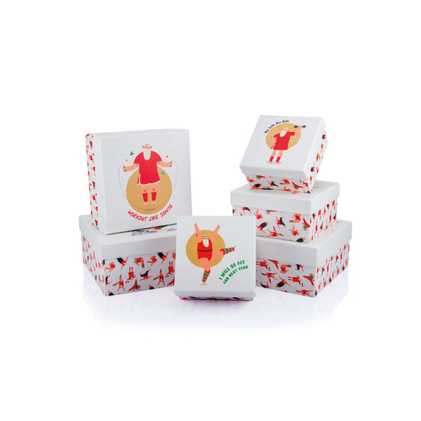 Sporting Santa Square Box