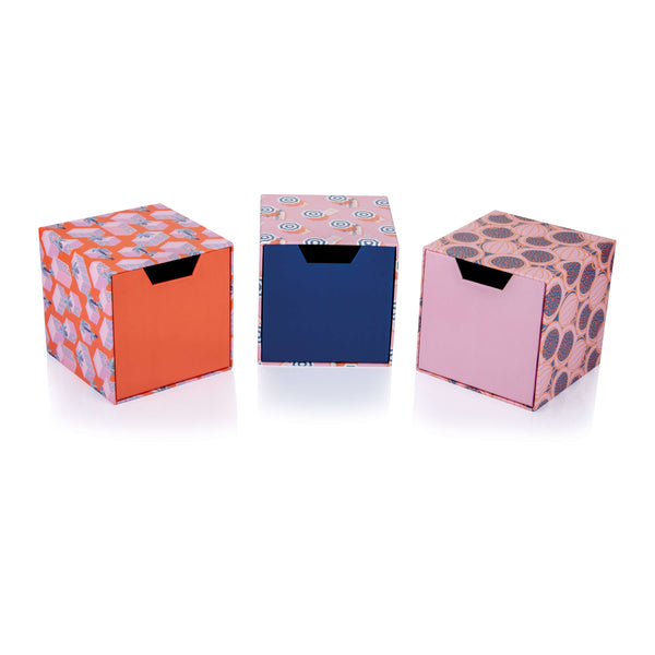 Summer Set of Cube Drawer Gift Boxes