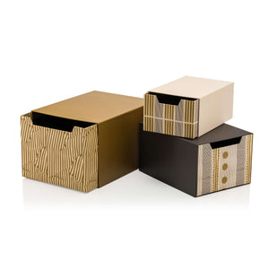 Terra Rossa Set of 3 Drawer Gift Boxes