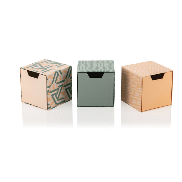 Tile Mild Set of 3 Cube Drawer Gift Boxes