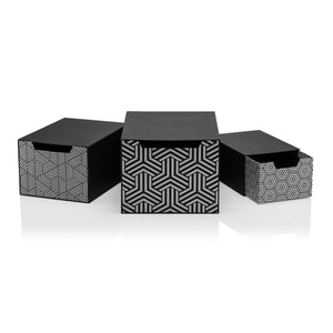 Tile Nero Set of 3 Drawer Gift Boxes