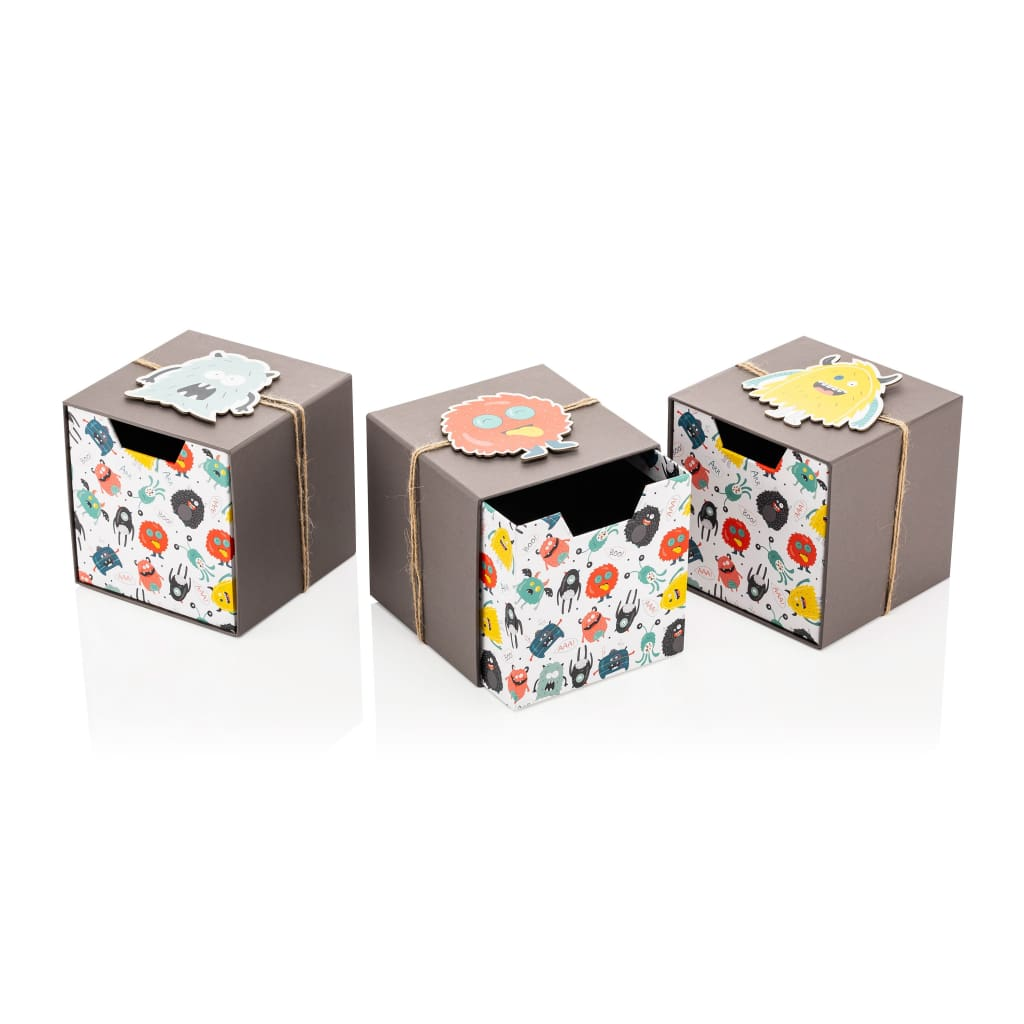 Monster Cube Drawer Box - 3 Pieces - Gift Box