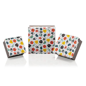 Monster Square Box - 3 Pieces - Gift Box