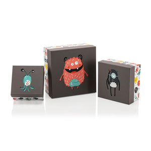 Monster Square Diecut Box - 3 Pieces - Gift Box