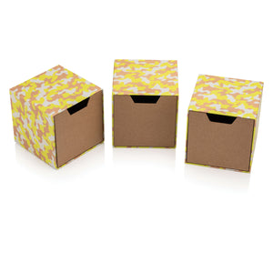 Neon Camouflage Set of Cube Drawer Gift Boxes
