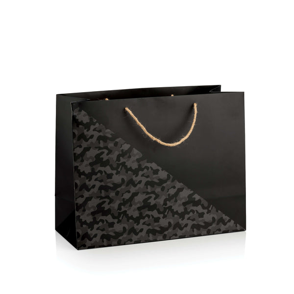 Black Camouflage Cavita Carton Bag