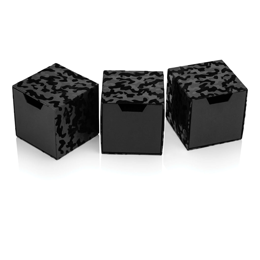 Black Camouflage Set of Cube Drawer Gift Boxes