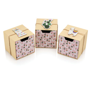 Llama Set of Cube Drawer Gift Boxes