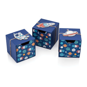Space Set of Cube Drawer Gift Boxes