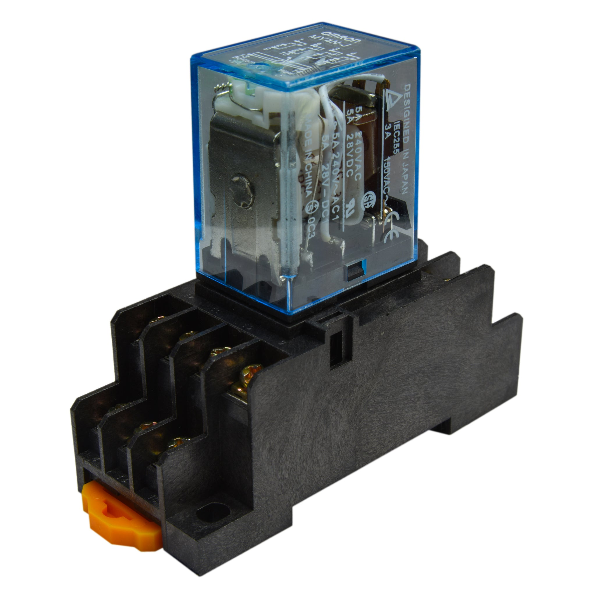 1 to 10 PCs) Omron MY4N-J (24V D/C Coil) 5A Cube Relay with ... Omron Iec Relay Wiring Diagram on