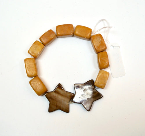 Two Star Bead Bracelet