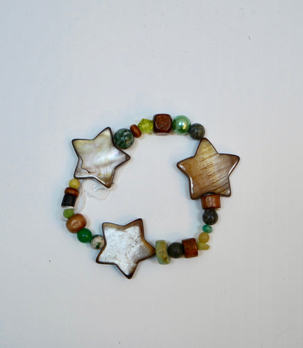 Three Star Bead Bracelet
