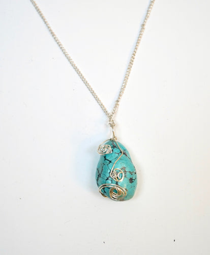 Wrapped Turquoise Necklace