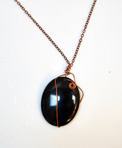 Wrapped Onyx Pendant