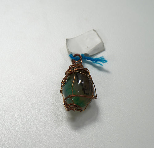 Wire Wrapped Moss Agate