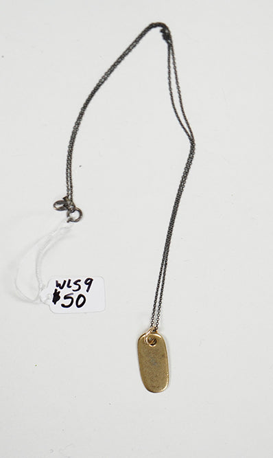 Brass Charm Necklace