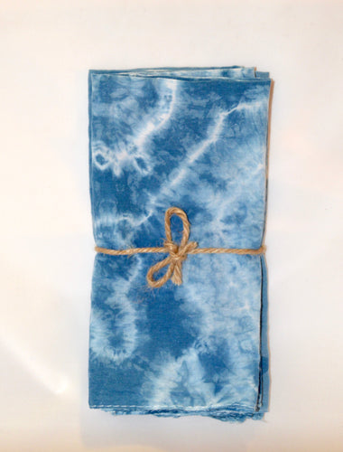 Indigo dyed Napkins  - Set of 4