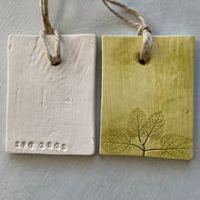 Load image into Gallery viewer, Handmade Mint Clay Ornament