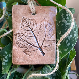 Handmade Fig Leaf Clay Ornament