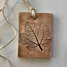 Load image into Gallery viewer, Handmade Fig Leaf Clay Ornament