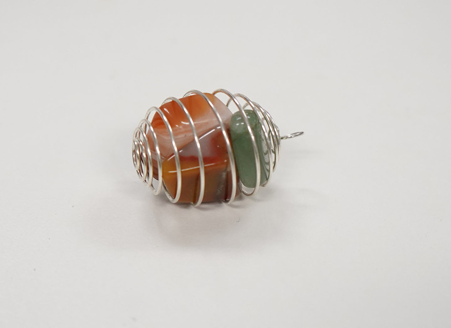Agate and Aventurine Wire Wrap Cage
