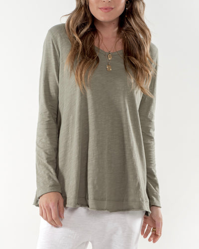 Cle Organic Cotton Harper Long Sleeve Tee - Basic State Cle Stockist