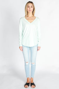 3rd story NORA LONG SLEEVE TEE - POWDER BLUE AUSTRALIAN 3RD STORY STOCKIST - BASIC STATE