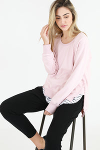 3rd Story Ulverstone Jumper Marshmallow Soft Pink Basic State 3rd Story Plus size Stockist Australia